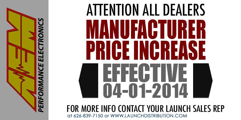 MFG PRICE INCREASE: AEM Electronics effective 04-01-2014