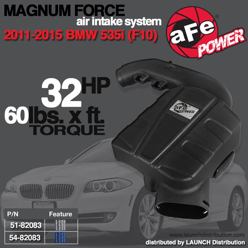 AFE POWER: Magnum FORCE Stage-2 Si Intake System 2011-2015 BMW 535i