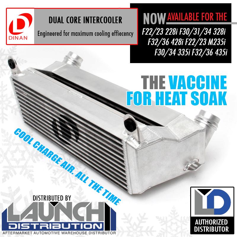 NEW: Dinan® High Performance Dual Core Intercooler for BMW 228i 328i 428i