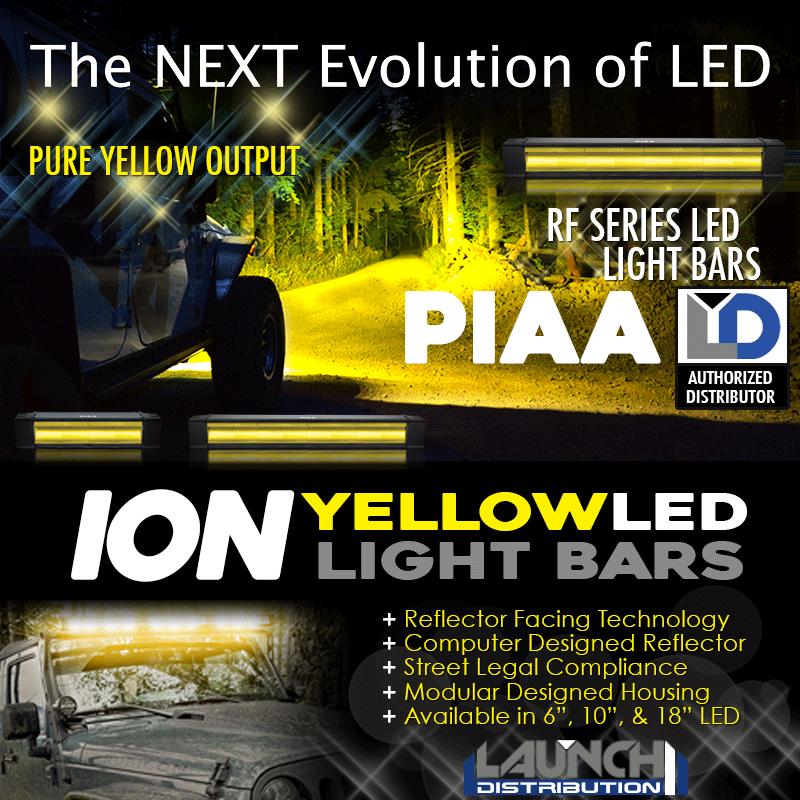 NEW: PIAA Ion Yellow RF Series Light Bars