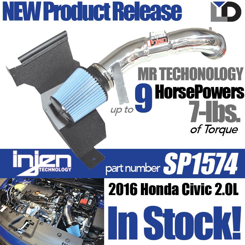 NEW Injen Short Ram Intake Kit for 2016 Honda Civic 2.0L