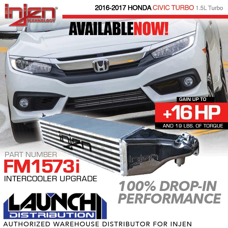 INJEN: Upgraded Intercooler 2016-up Honda Civic 1.5T