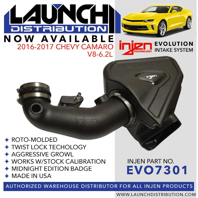 INJEN Evolution Intake System: 2016-up Chevy Camaro V8 6.2L