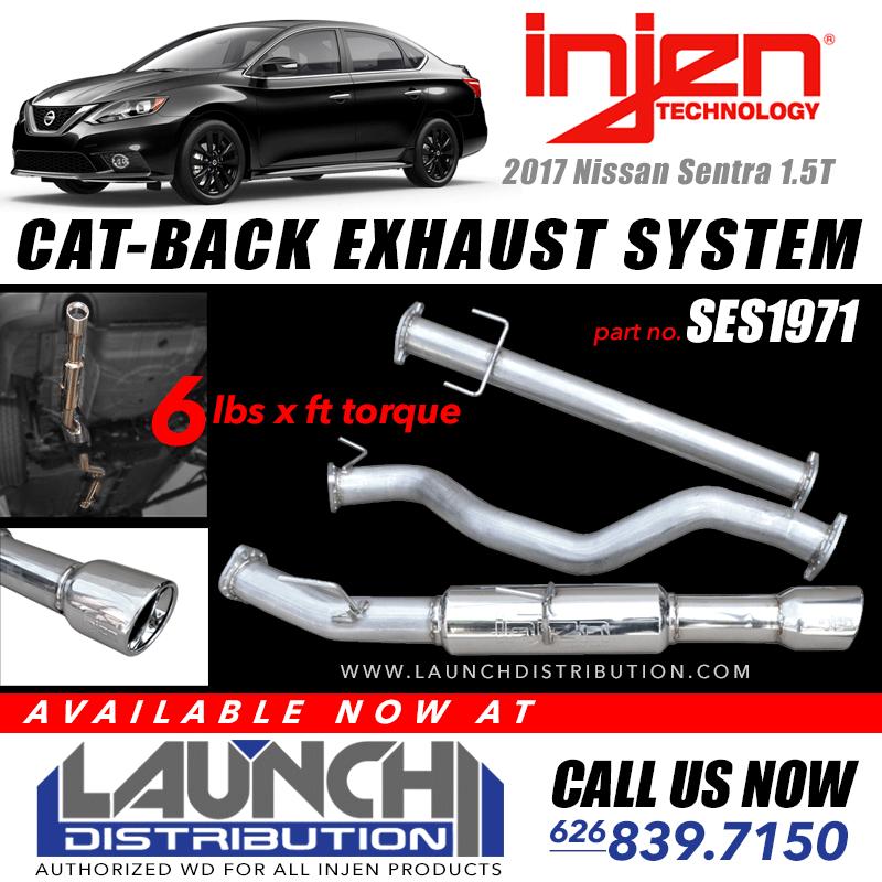 INJEN: New Cat Back Exhaust Kit for 2017 Nissan Sentra 1.5T