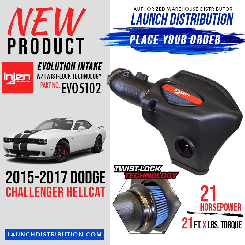 INJEN Evolution Air Intake System for 2015-17 Dodge Hellcat