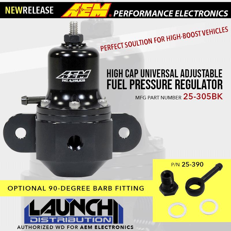NEW PRODUCT: AEM High-Boost Universal Adjustable Fuel Pressure Regulator