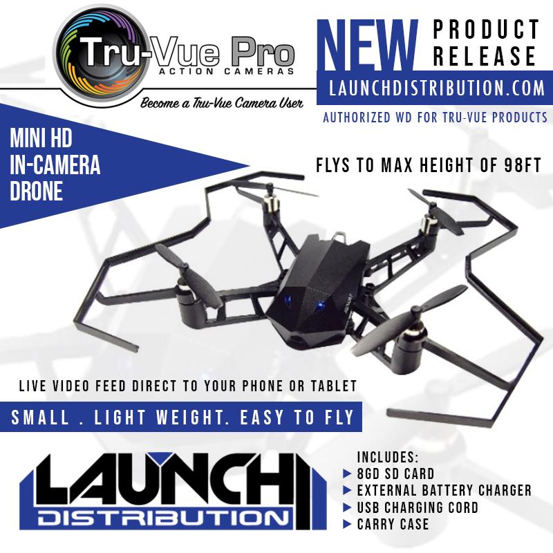 NEW: Tru-Vue Pro Mini HD In-Camera Drone