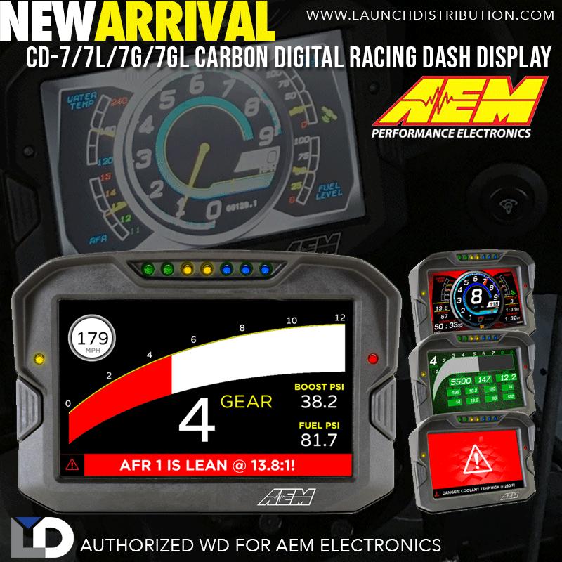 NEW PRODUCT: AEM CD-7 Carbon Digital Dash Display