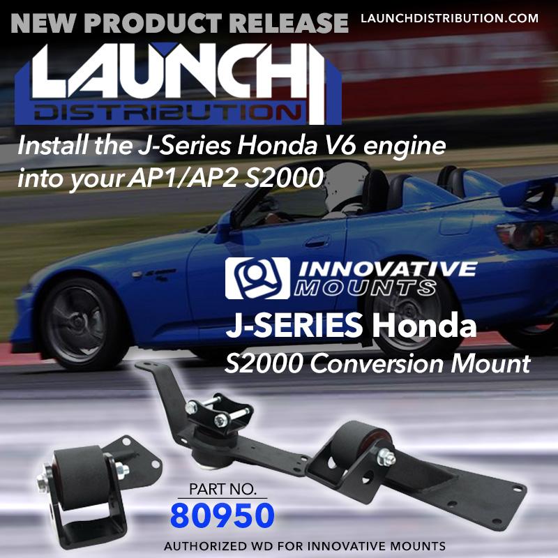 INNOVATIVE Mounts: New Motor mount J-Series conversion for Honda S2000 AP1 AP2