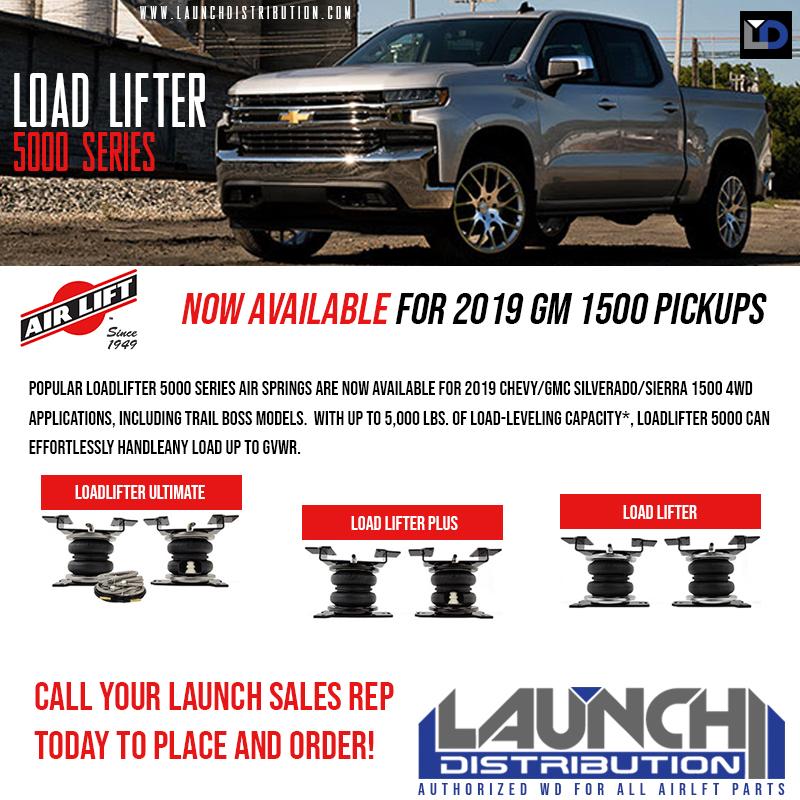 NEW: Air Lift LoadLifter 5000 series for 2019 GM 1500 Pickups