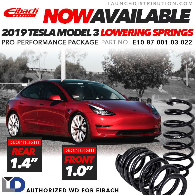 NOW IN STOCK: Eibach Lowering Springs for 2019 Tesla Model 3