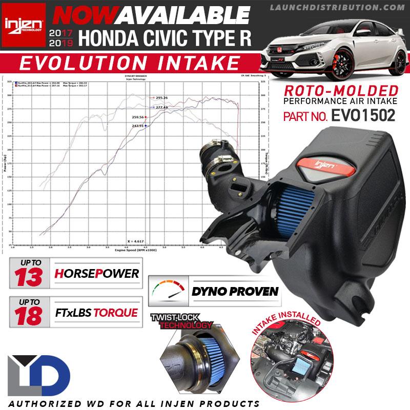 NOW STOCKING: Injen Evolution Air Intake for 2018-up Honda Civic Type-R