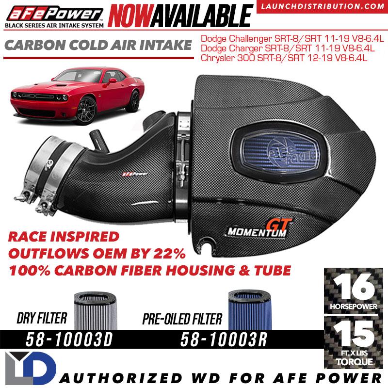 NEW RELEASE: aFe POWER Carbon Cold Air Intake for Dodge Challenger/Charger 2011-2019 SRT V8
