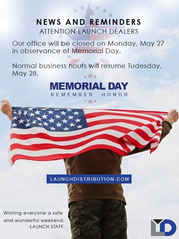 Office Closed on Memorial Weekend