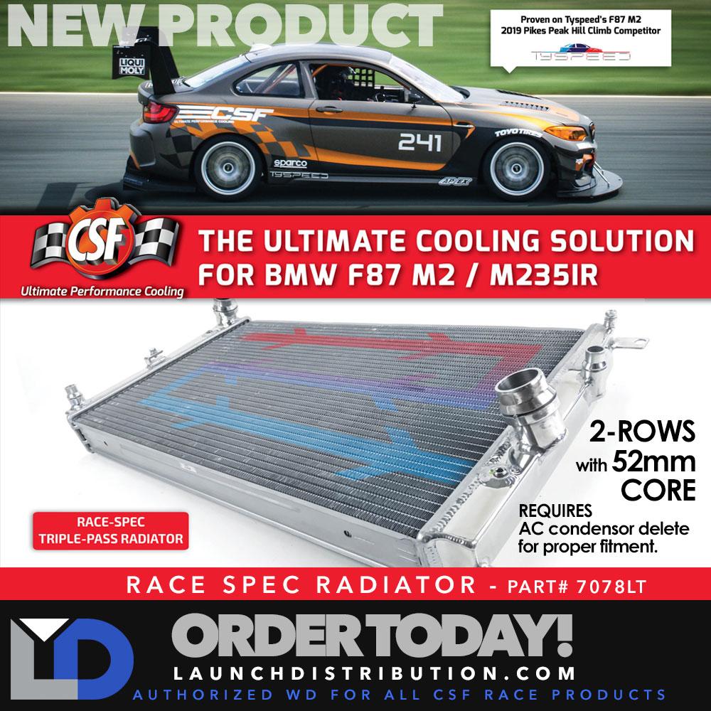 NEW CSF Race-Spec Radiator for the BMW F87 M2 / M235IR