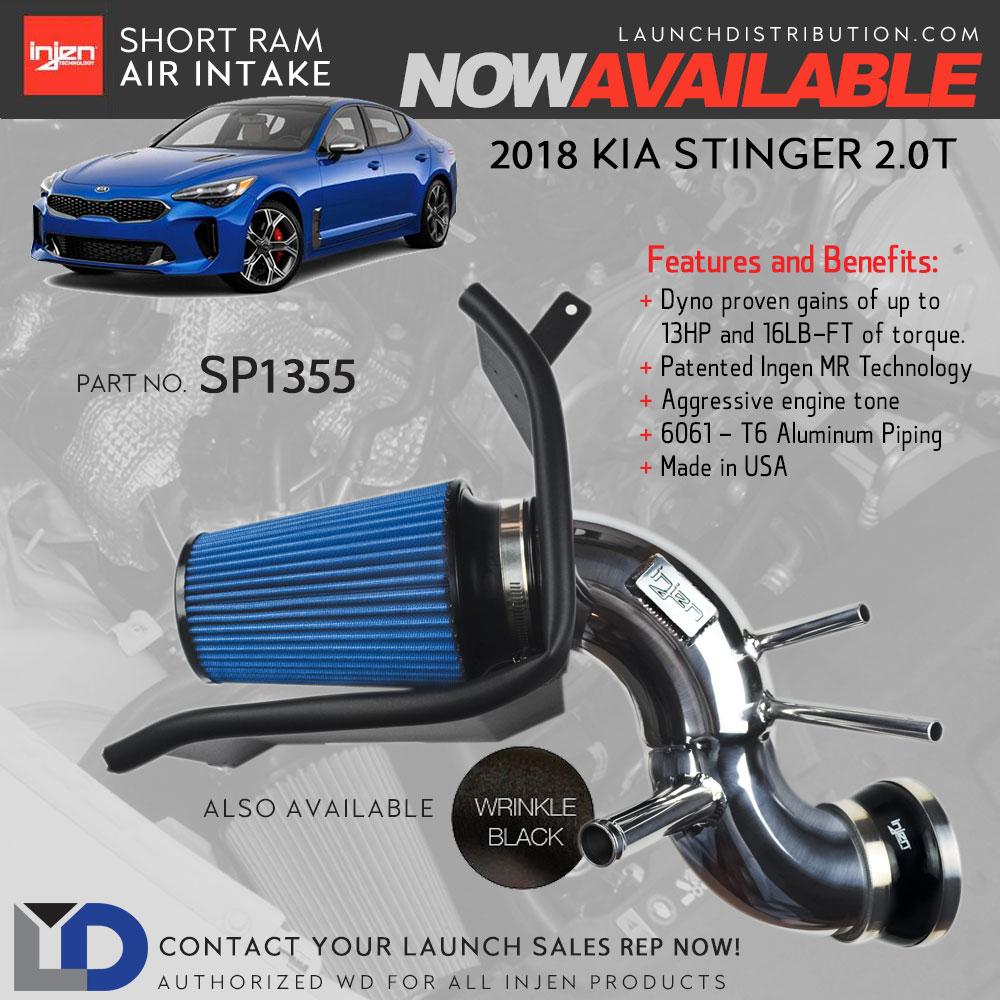 NEW Short Ram Air Intake for 2018 Kia Stinger 2.0 Turbo