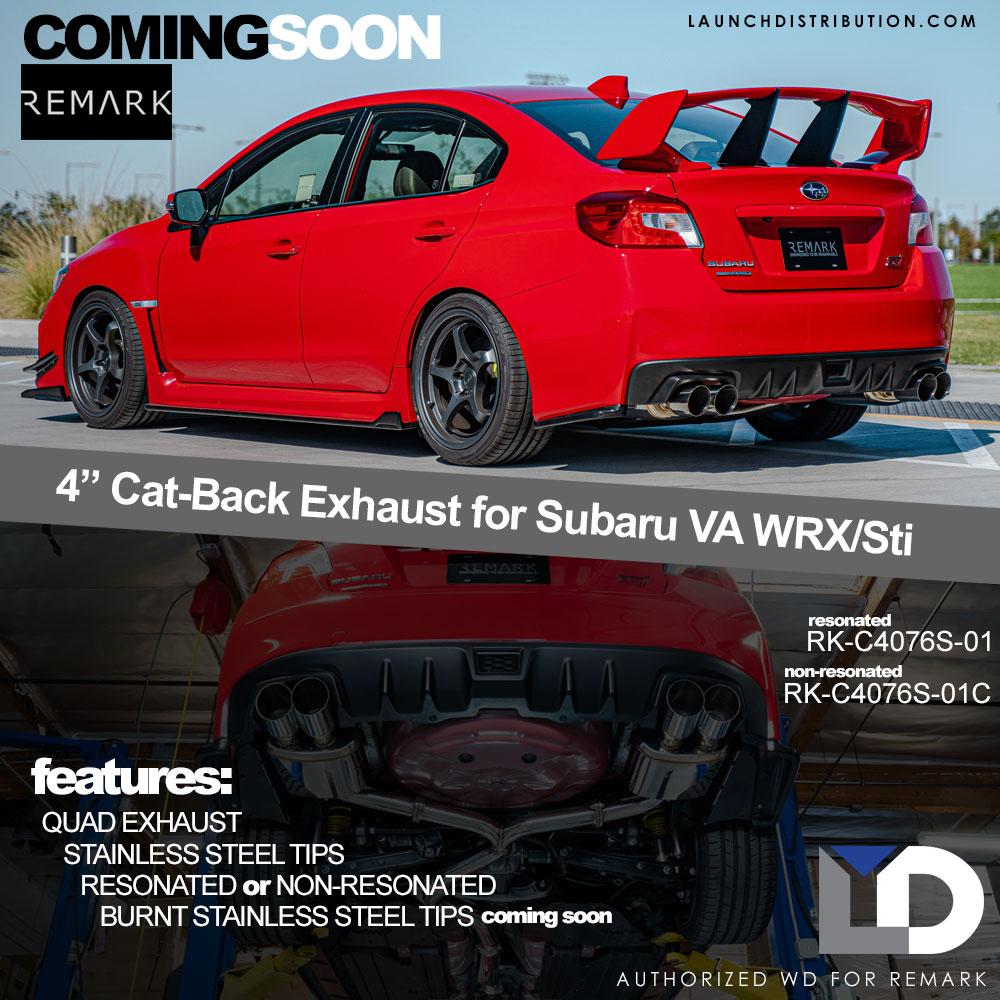 COMING SOON: Quad Exhaust System for 2015 Subaru WRX/Sti