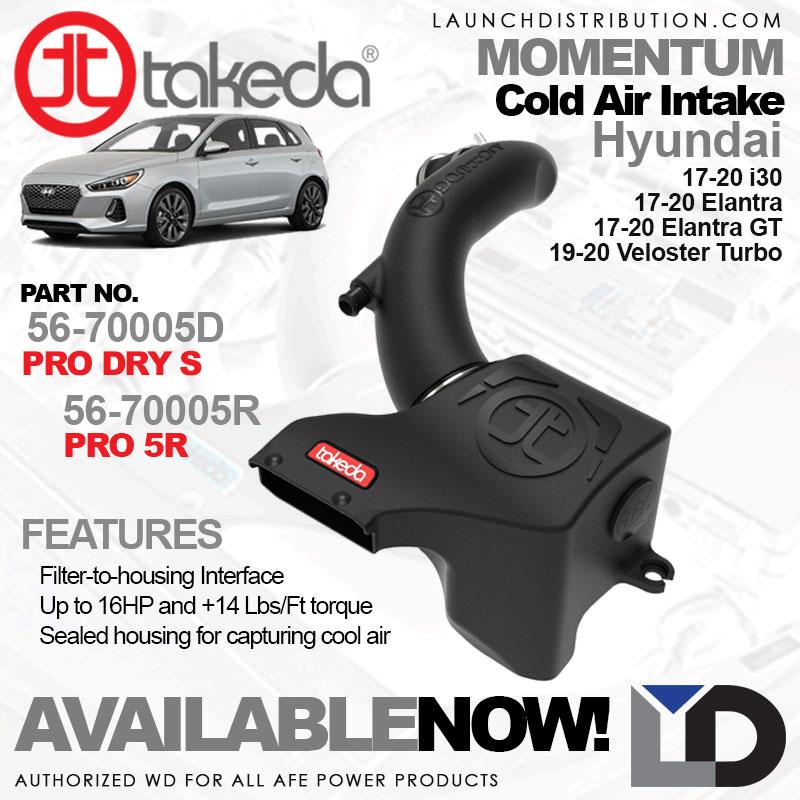 AVAILABLE NOW: TAKEDA Momentum Cold Air Intake for 17-20 Hyundai i30/Elantra/El
