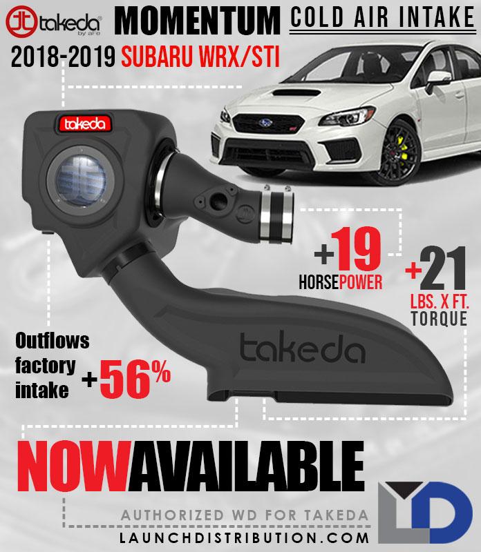 NOW HERE: Takeda Cold Air Intake 2018-2019 Subaru WRX/STi