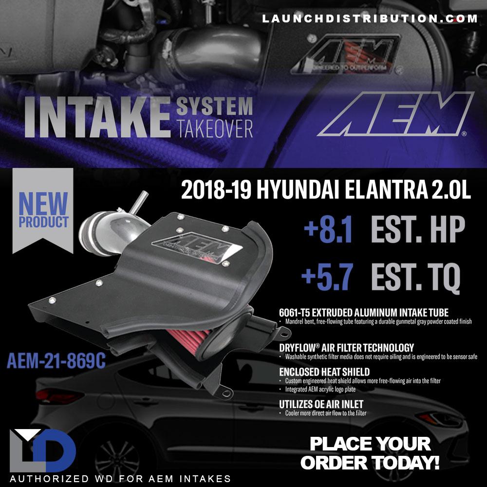 NEW PRODUCT AEM Intake Kit for 2018 to 2019 Hyundai Elantra 2.0L