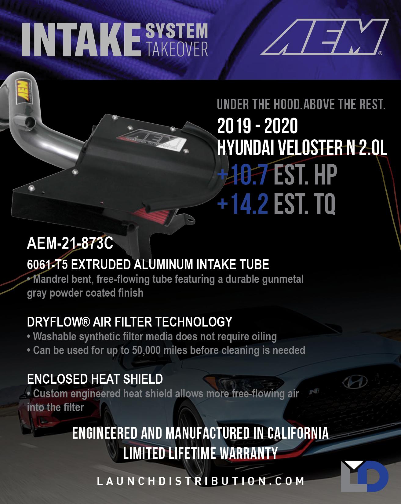 AEM INTAKE for 2019-2020 Hyundai Veloster N 2.0L