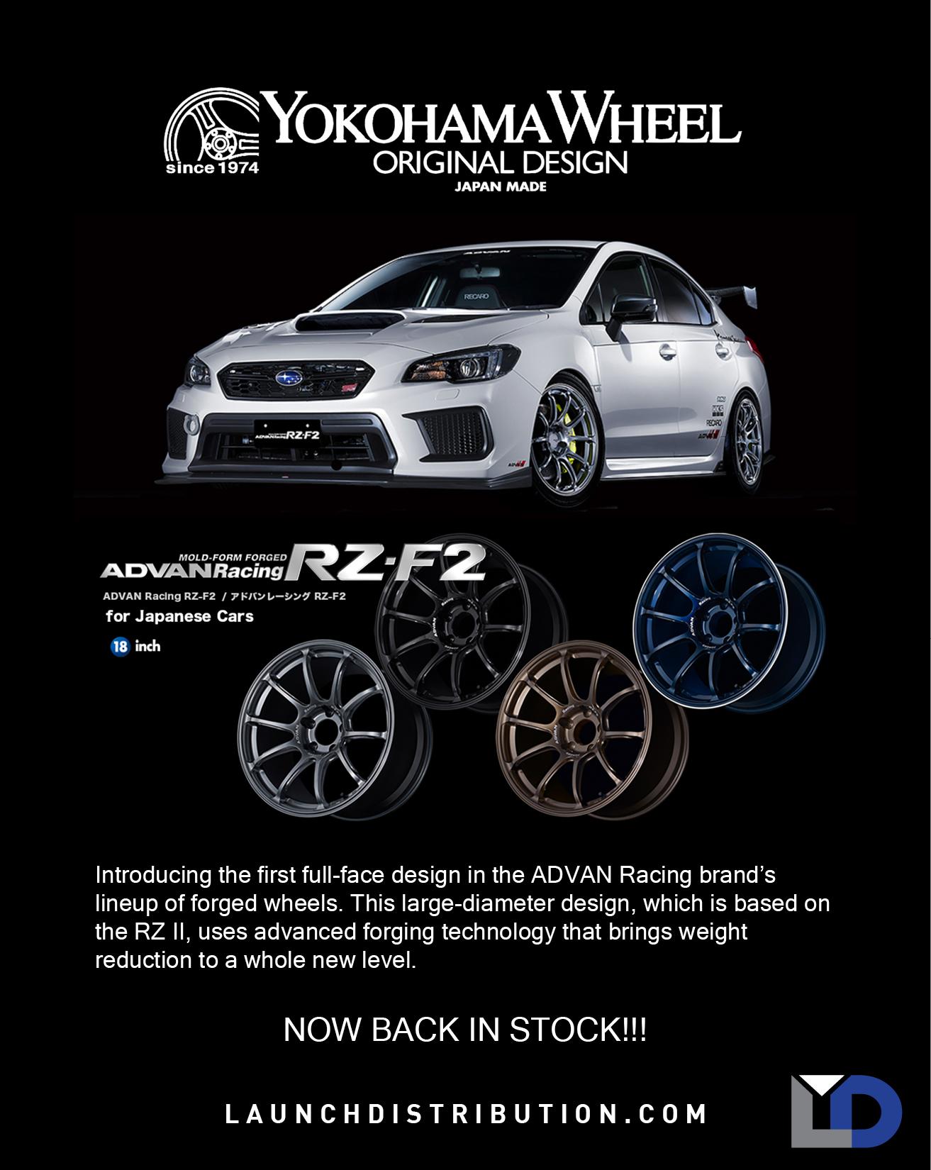BACK IN STOCK  Advan Racing RZ-F2