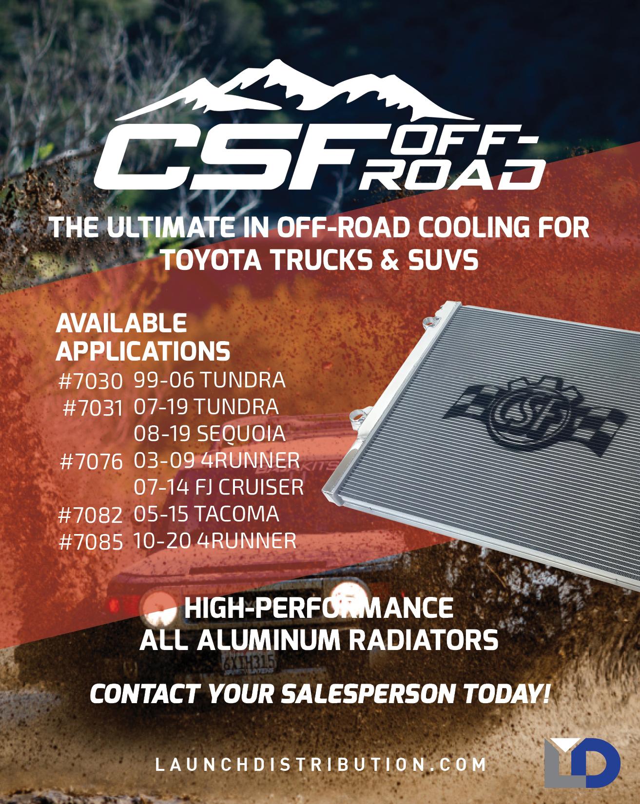 NEW CSF Off-Road All Aluminum Radiators