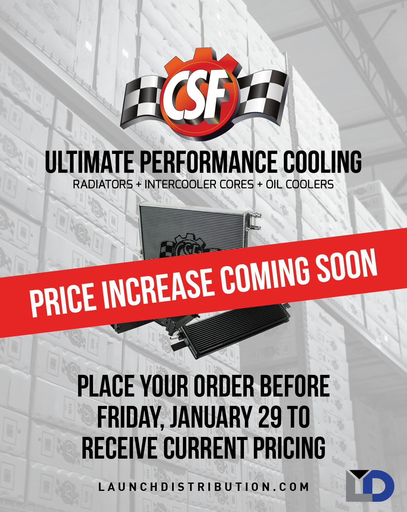CSF Price Increase