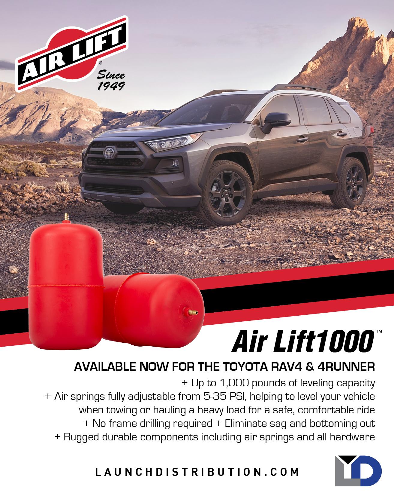 Air Lift 1000 Series Kit for Toyota RAV4 and 4Runner