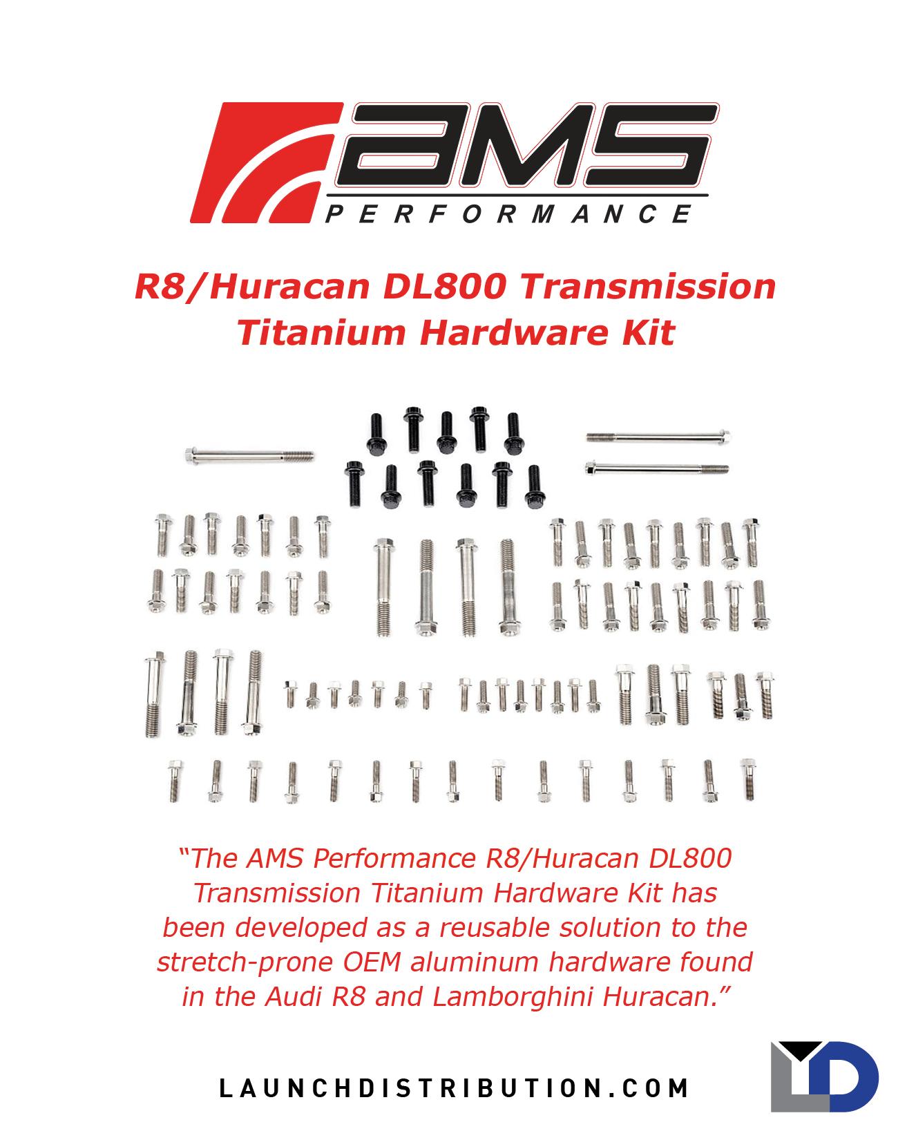 AMS R8/Huracan DL800 Transmission Titanium Hardware Kit