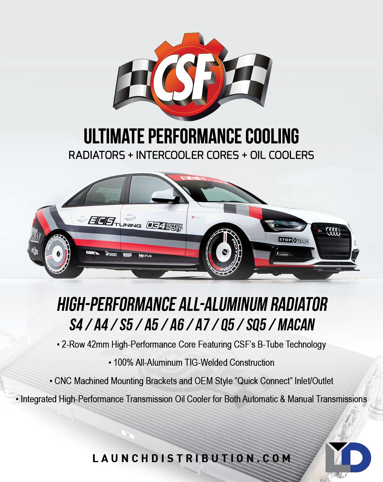 CSF High-Performance Radiator for Audi
