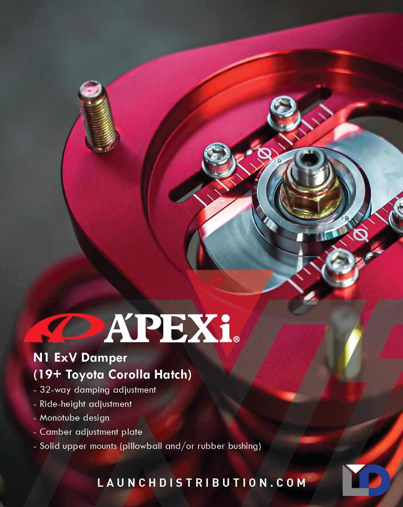 A'PEXi N1 ExV Damper for 17+ Toyota Corolla Hatchback