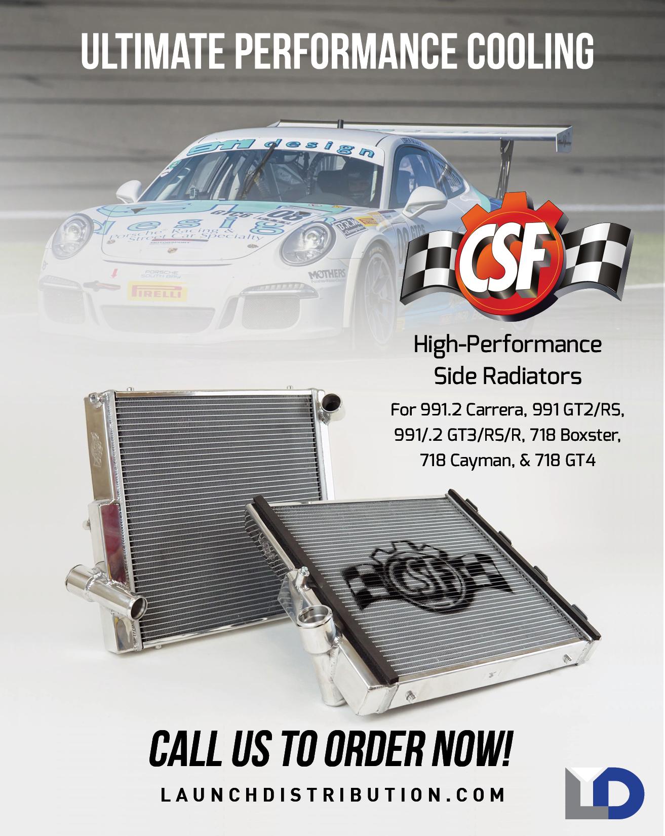 CSF High-Performance Side Radiators for Porsche