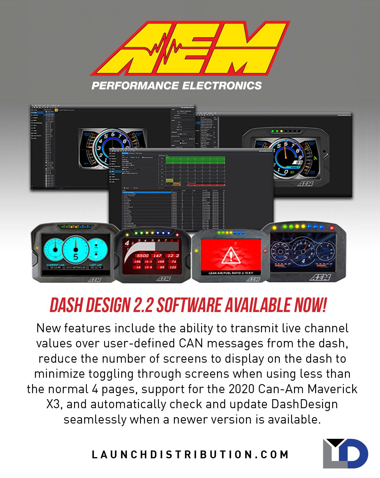AEM Electronics Dash Design 2.2 Software Now Available
