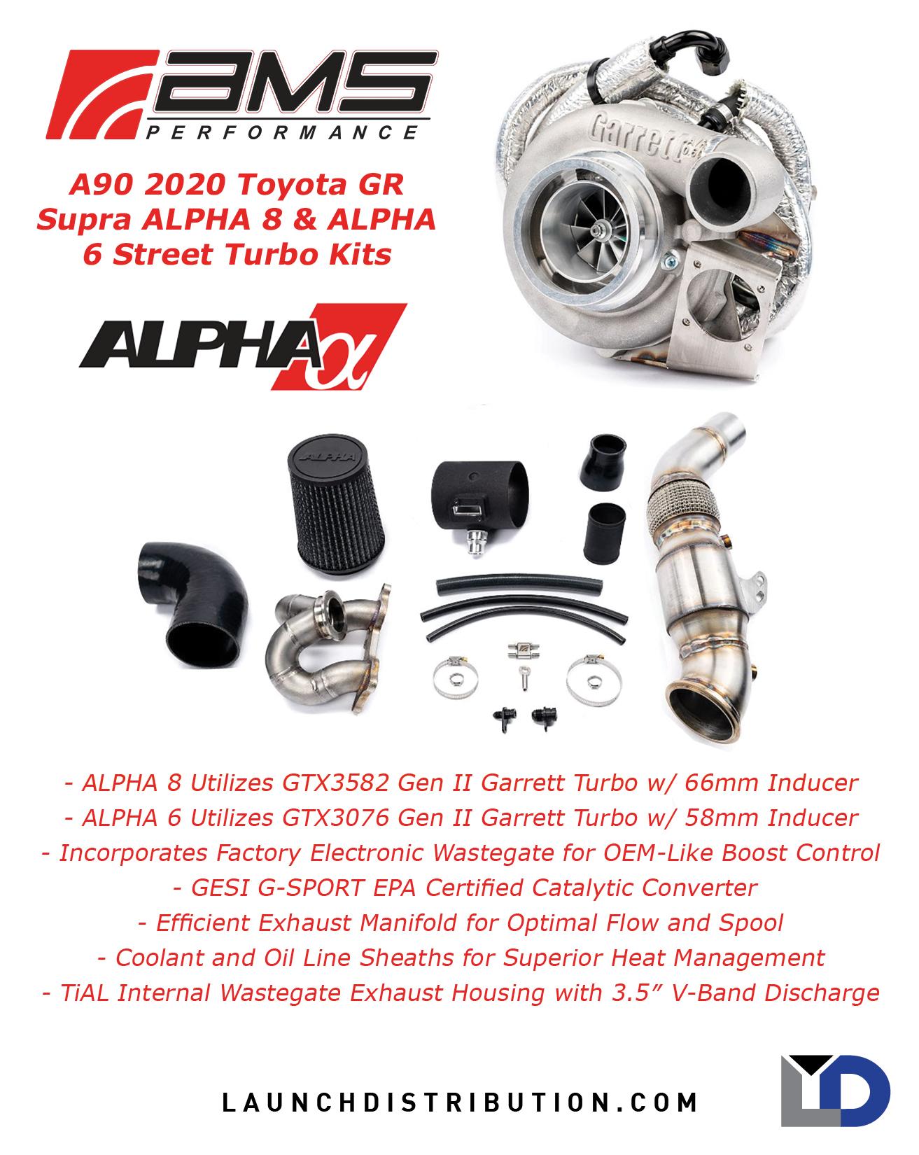 AMS Supra GR A90 Alpha Turbo Kit