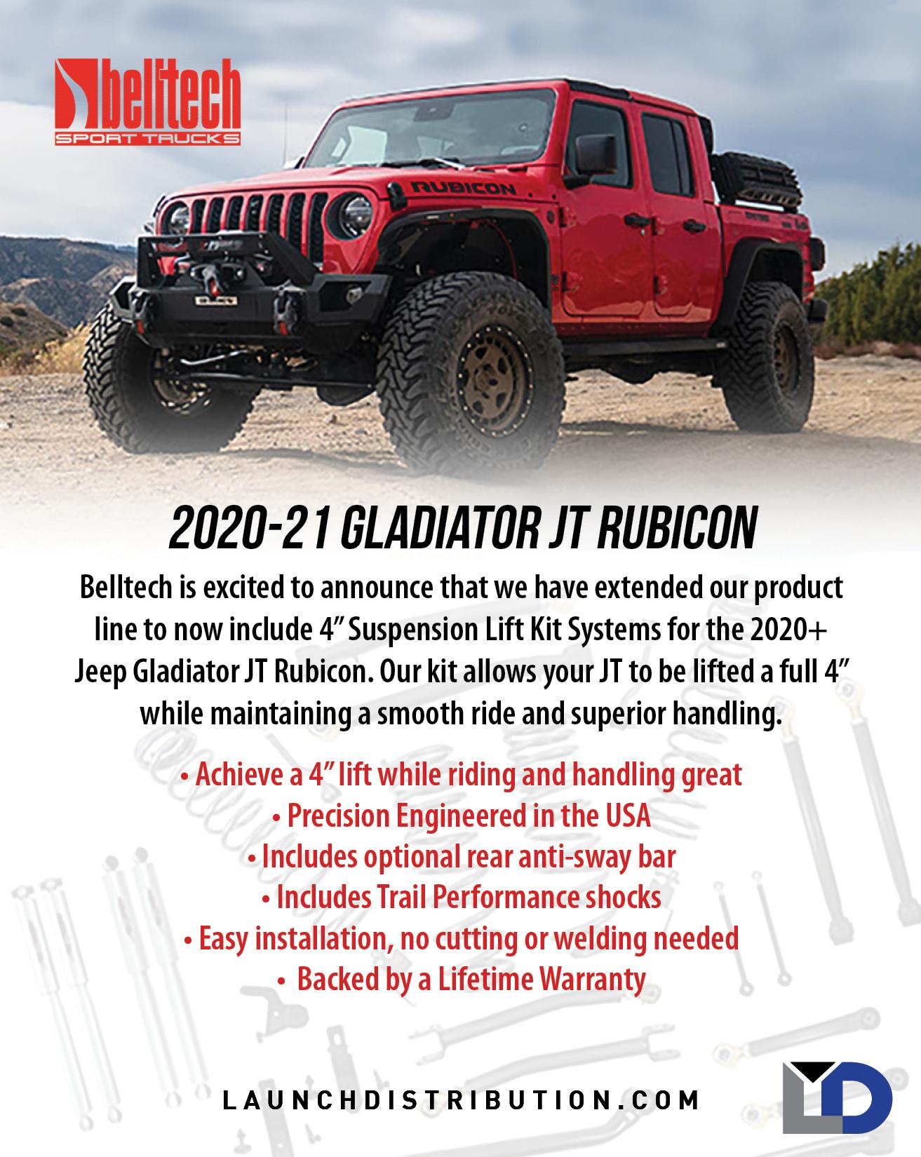 Belltech 2020+ Jeep Gladiator Lift Kit