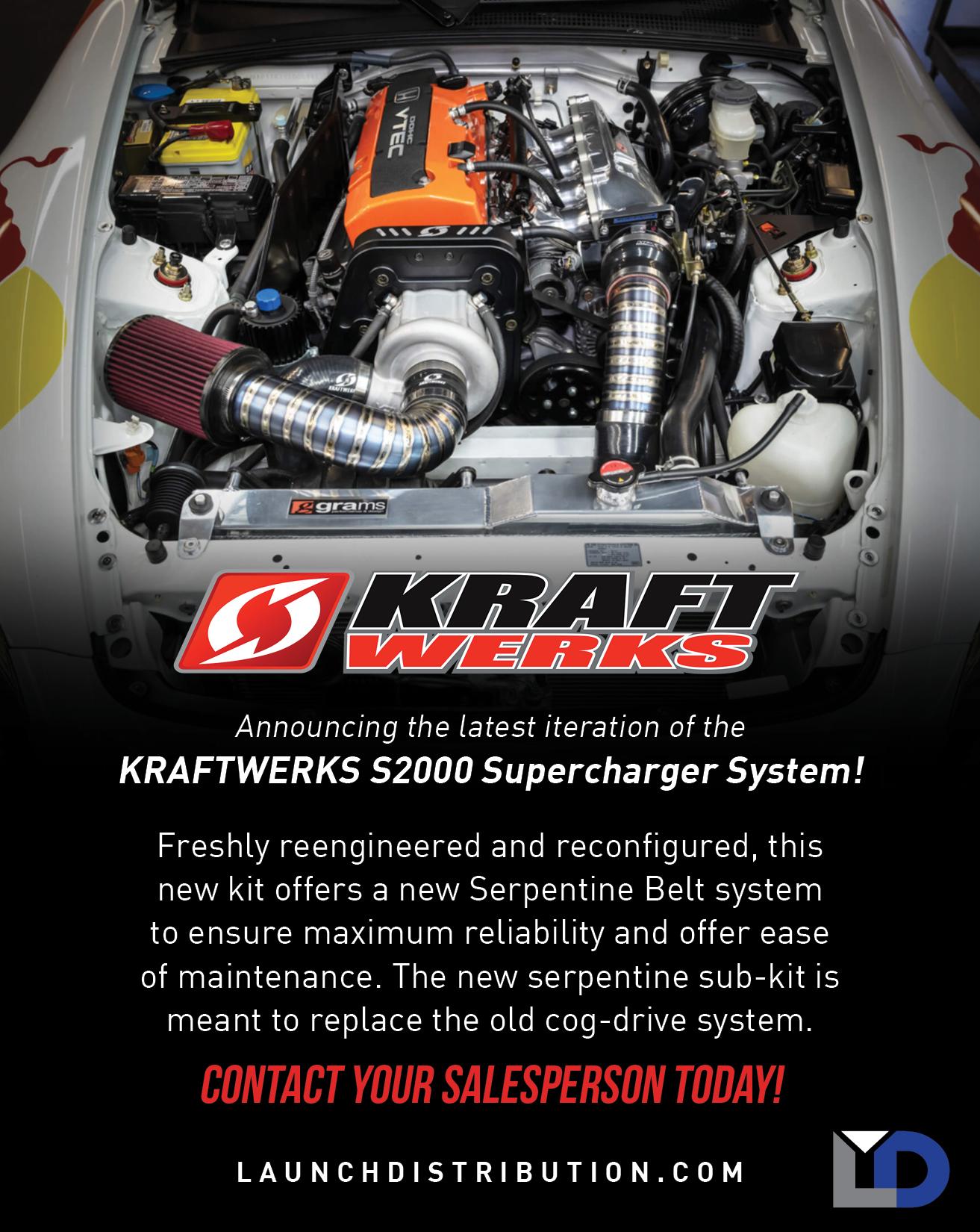 Kraftwerks Serpentine Supercharger Kit S2000