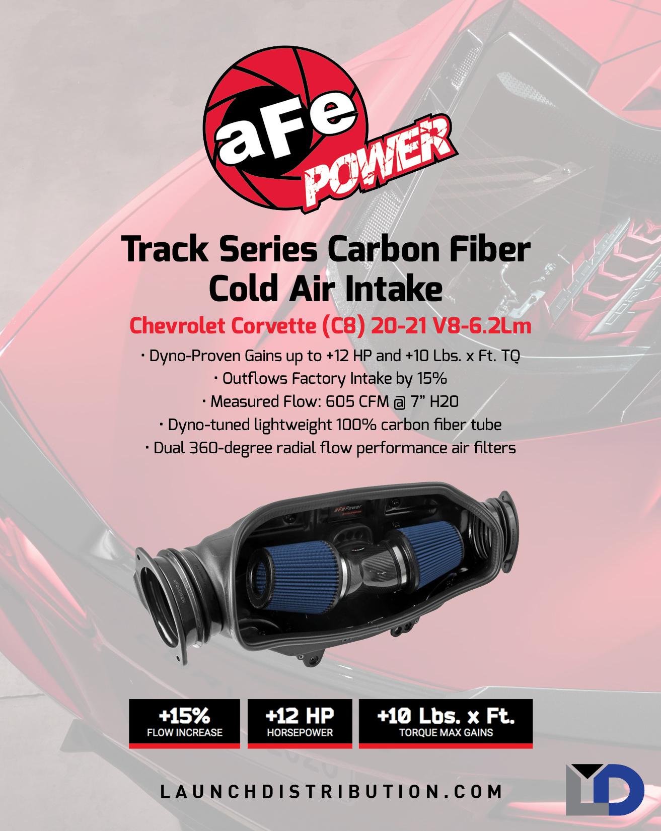 aFe Track Series Carbon Fiber CAI for C8