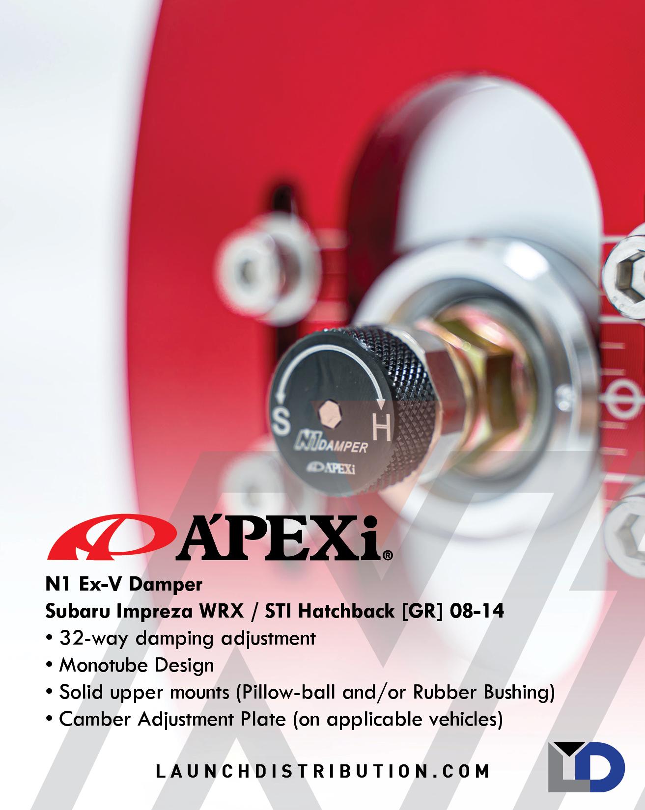 A'PEXi N1 Ex-V Damper for Subaru WRX/STi Hatchback