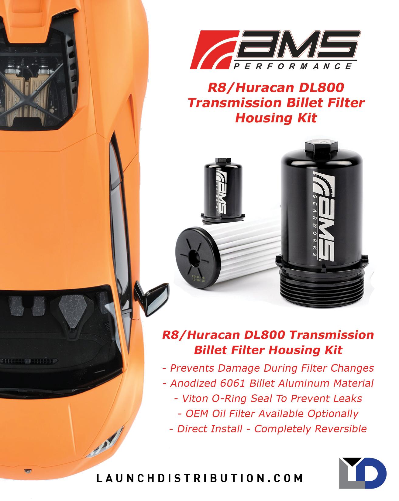 AMS R8/Huracan DL800 Transmission Filter Kit
