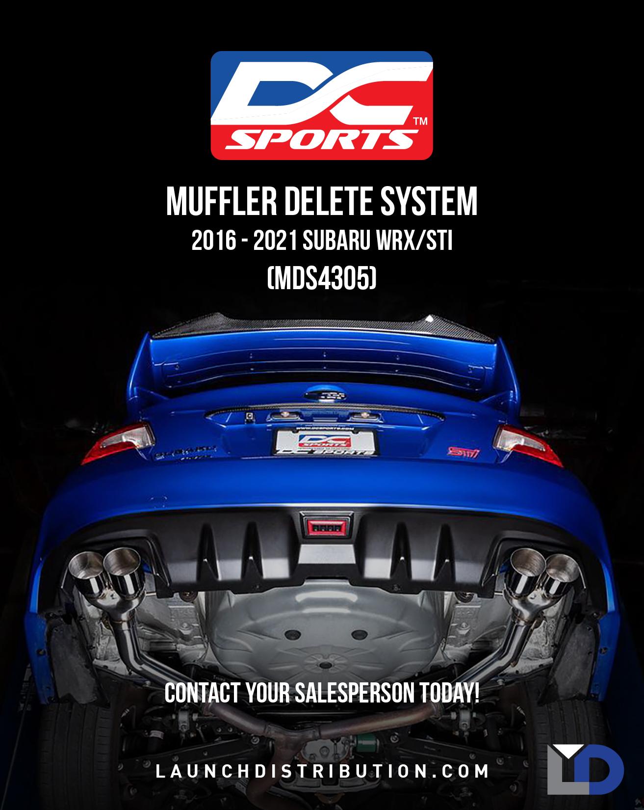 DC Sports Muffler Delete System 16+ Subaru WRX/STi